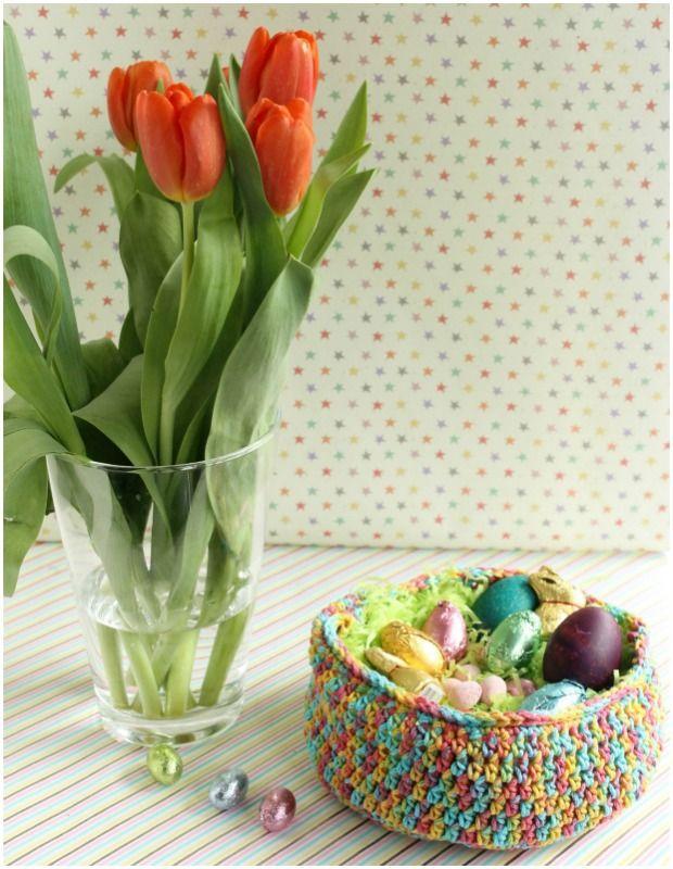 patrón de la cesta de Pascua ganchillo libre de LoveCrochet ...
