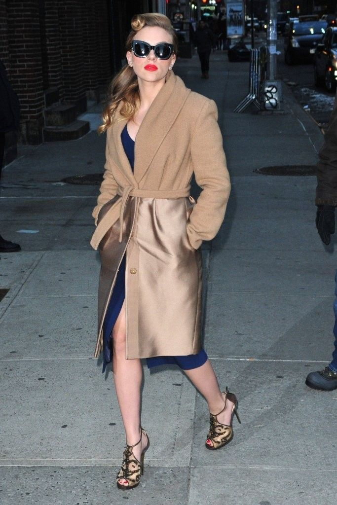 Scarlett Johansson in Max Mara and Michael Kors - Late Show with David Letterman