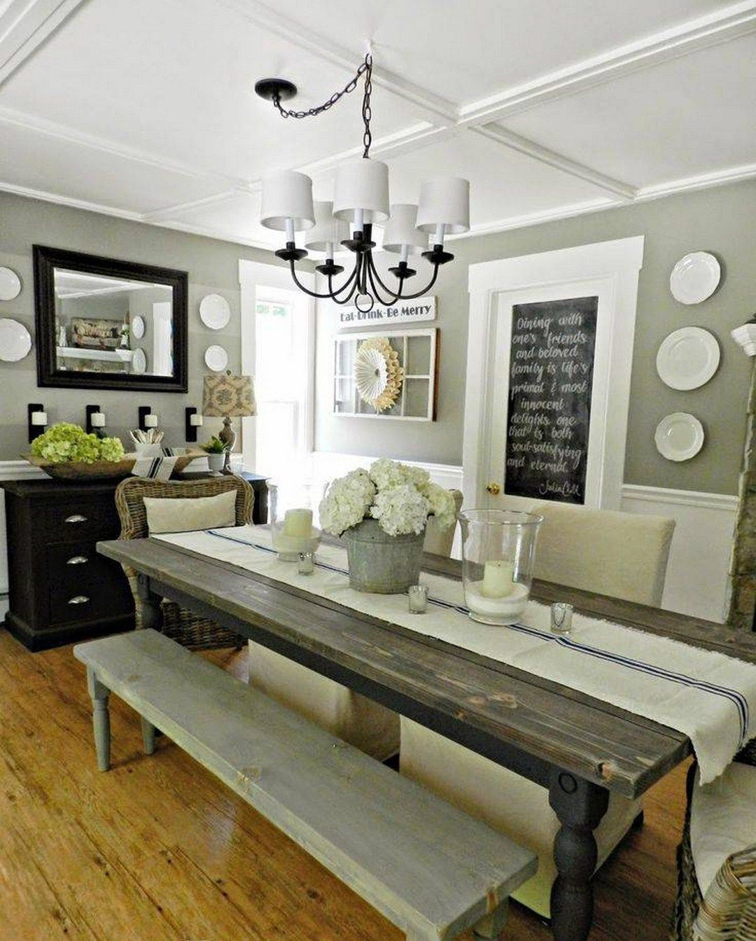 Modern Rustic Farmhouse Dining Room Style 10