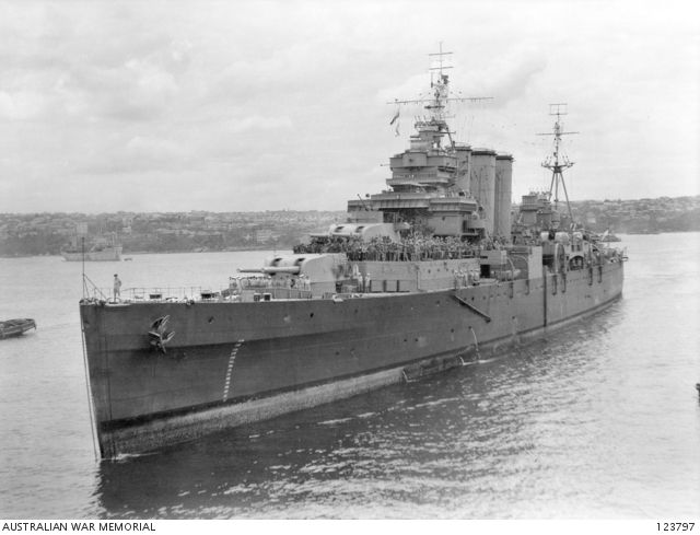 Garden Island Sydney Nsw 1945 11 30 Hmas Shropshire Approaching The Wharf The Cruiser Had Been Diverted F Royal Australian Navy Royal Navy Ships Royal Navy