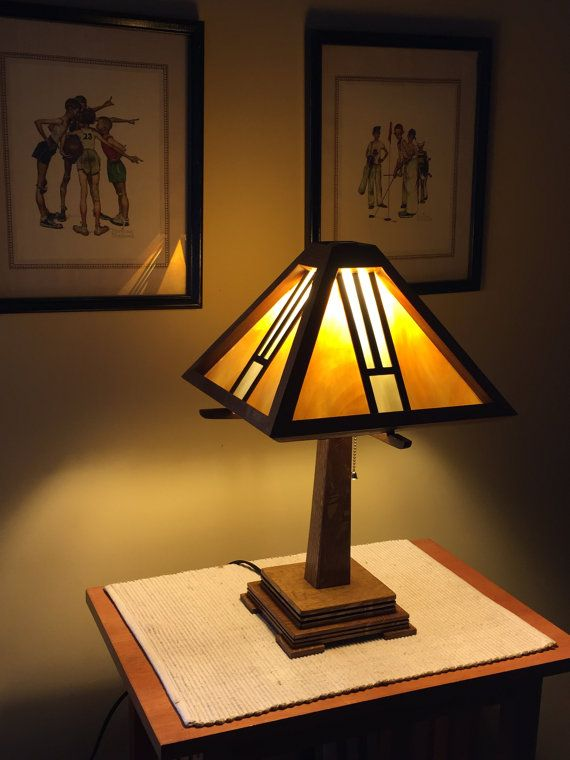 Stained Gl Lamp Arts And Crafts Mission Style Frank