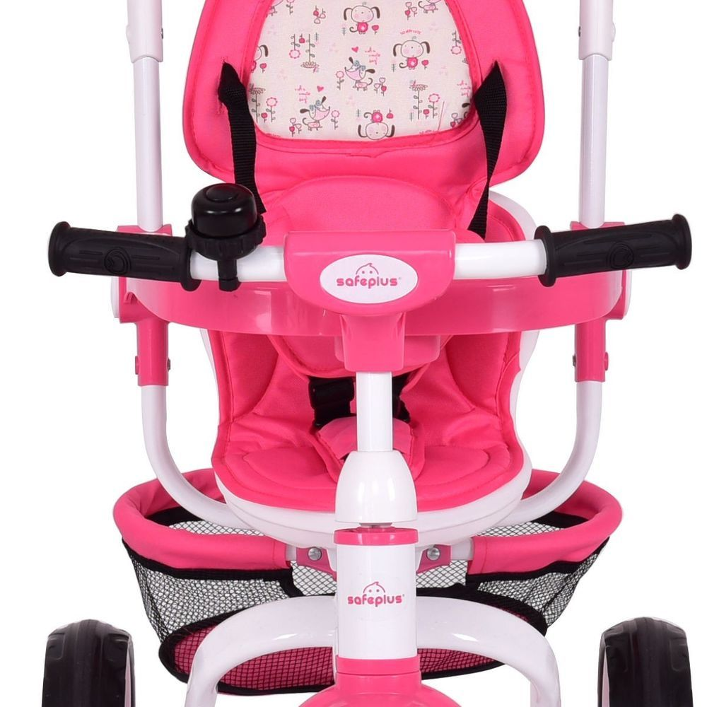 4in1 Detachable Baby Stroller Tricycle Round Canopy