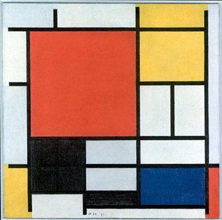 Yellow Color Block Kitchen Mondrian Art Mondrian Art Projects