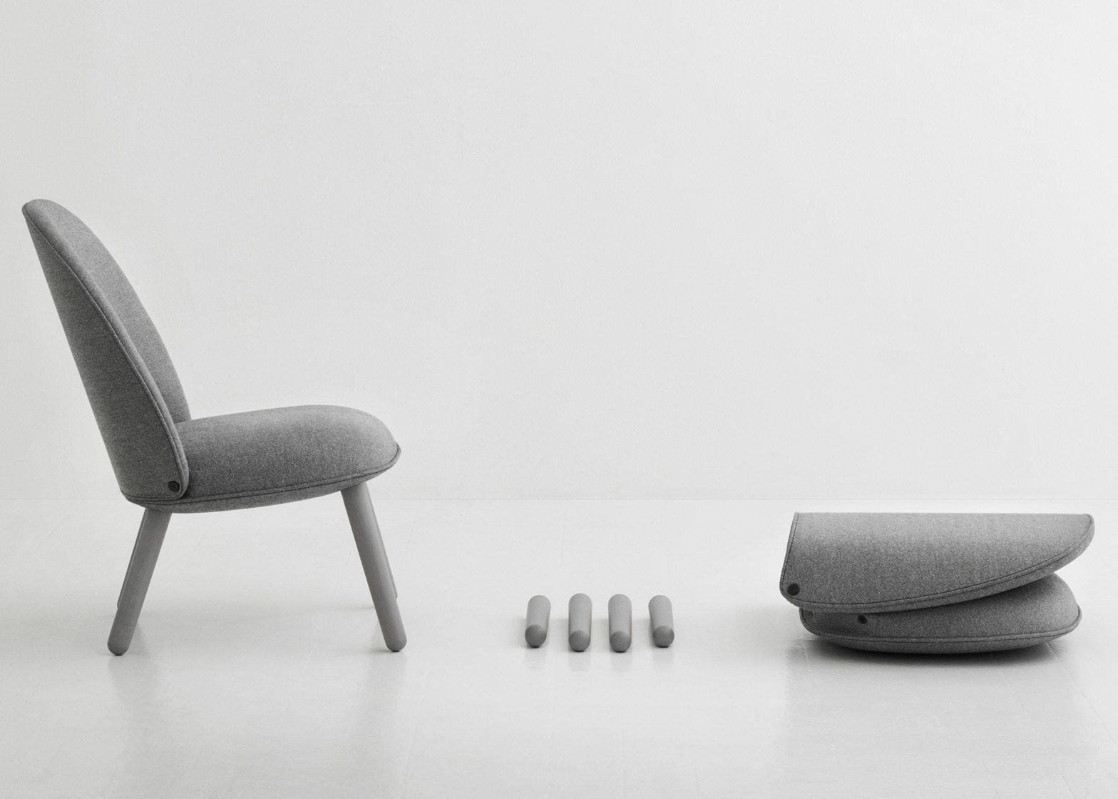 Normann Copenhagen Stoel : Normann copenhagen adds flat pack seating to collection lounge