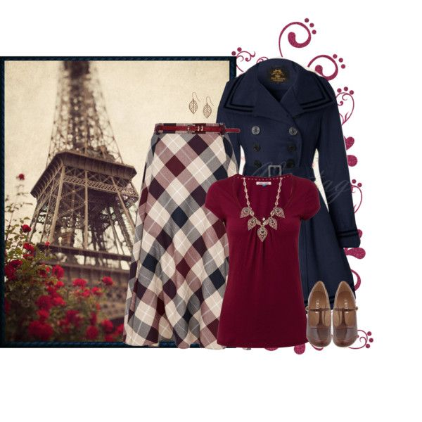Navy and Cranberry #1 by jamie-burditt on Polyvore featuring White Stuff, CC, Chelsea Crew, Natasha Accessories and Humble Chic