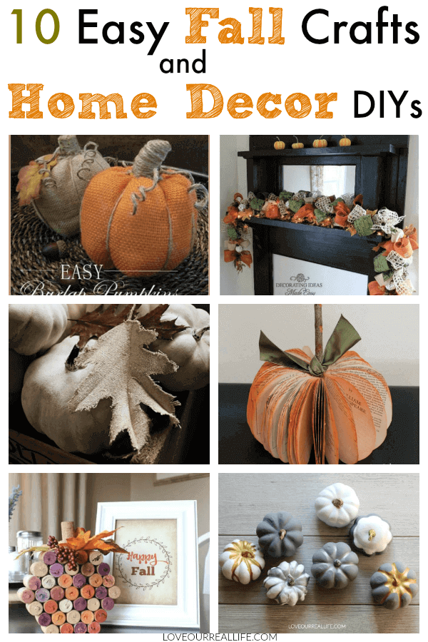 10 Easy Fall Crafts And Home Decor Diys Easy Fall Crafts Fall