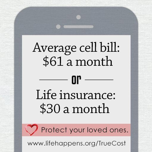 The Average Cell Phone Bill Is 2x A Monthly Life Insurance Premium
