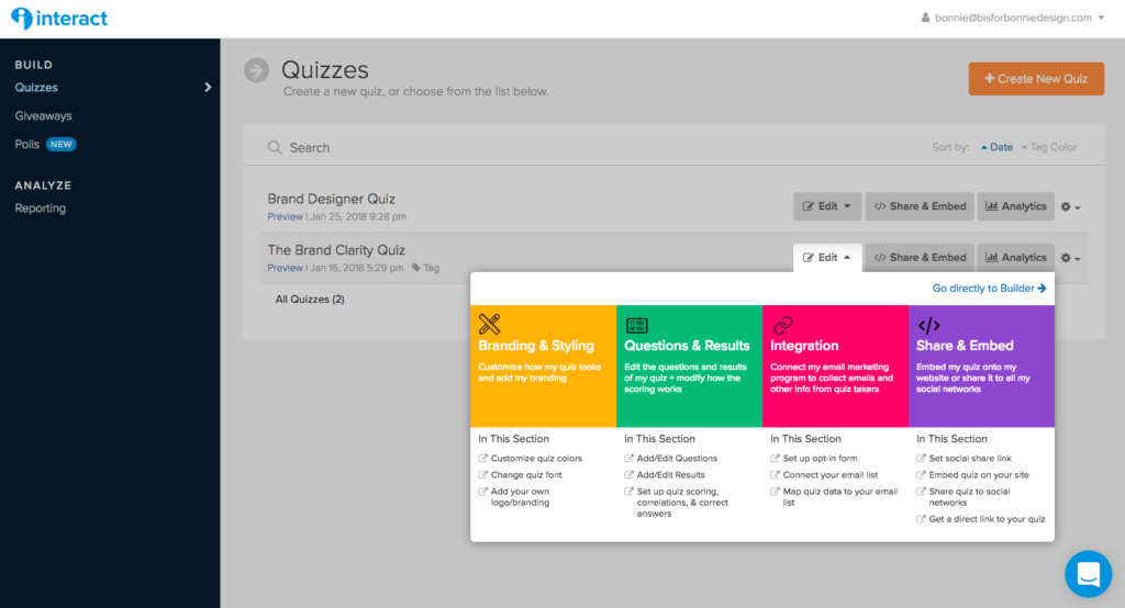 How To Embed An Interactive Quiz In Your Showit Site B Is For Bonnie Design Brand Design Strategy Education For Creative Boss Ladies Online Web Design Web Design Quotes Showit