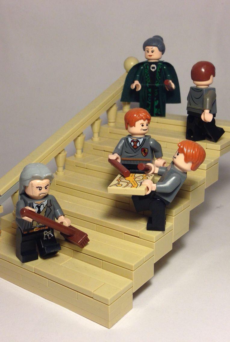 Hogwarts staircase | Lego moc, Lego, Hogwarts