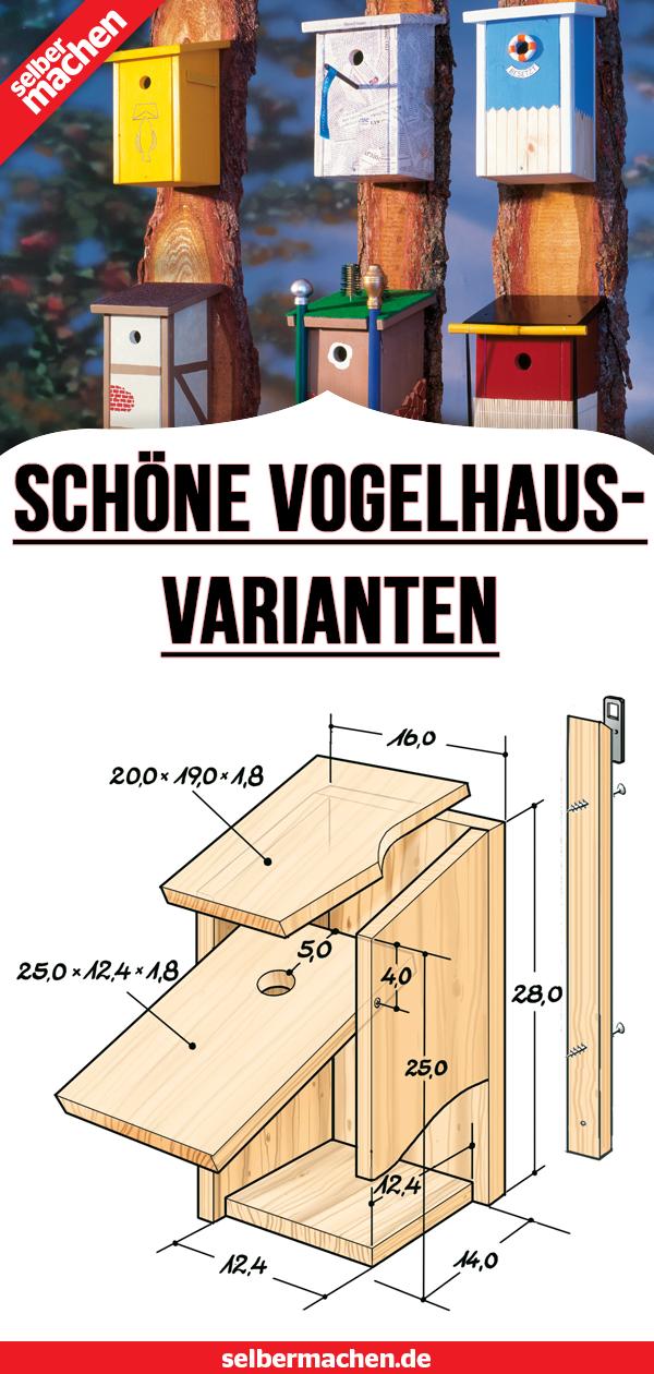 Vogelhaus selber bauen: Anleitung #holzbauen