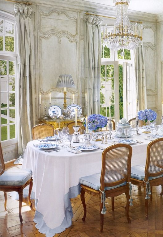 A La Mode French Dining French Country Dining Room Decor