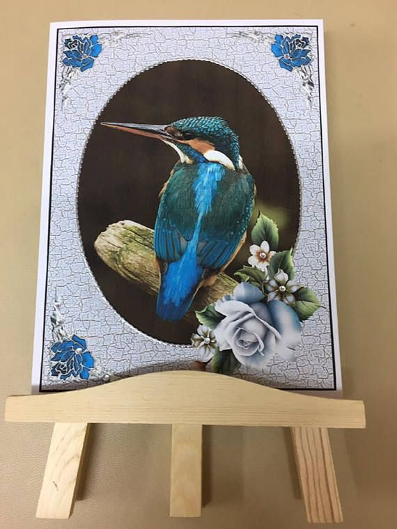 kingfisher greeting card perfect for the bird lover