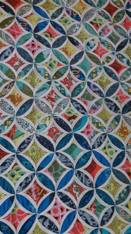 Gorgeous Cathedral Windows Quilt Quilts Pinterest Cathedral
