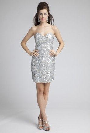 Prom Dresses 2013 - Strapless Sequin Prom Dress from Camille La Vie ...