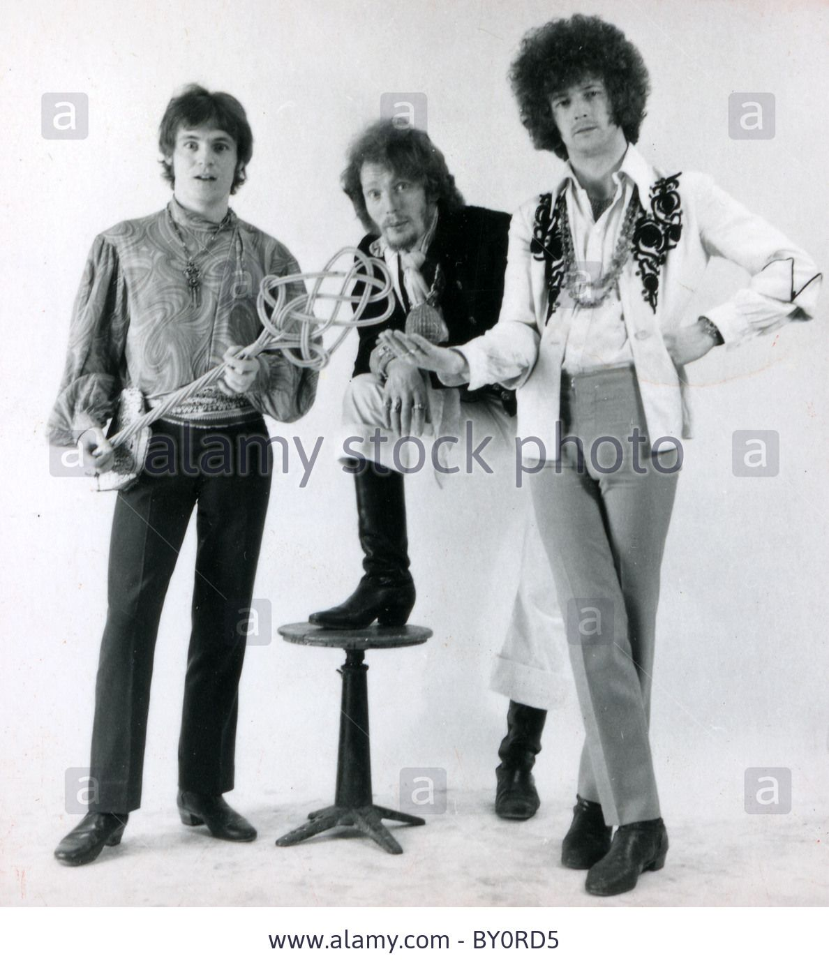 CREAM  UK rock group in 1966 from l: Jack Bruce, Ginger Baker, Eric Clapton Stock Photo