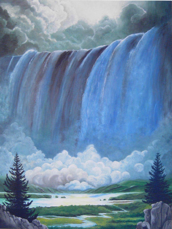 Aquarelle Galerie Wasserfall Zeichnung Flaschen Bemalen Bilder