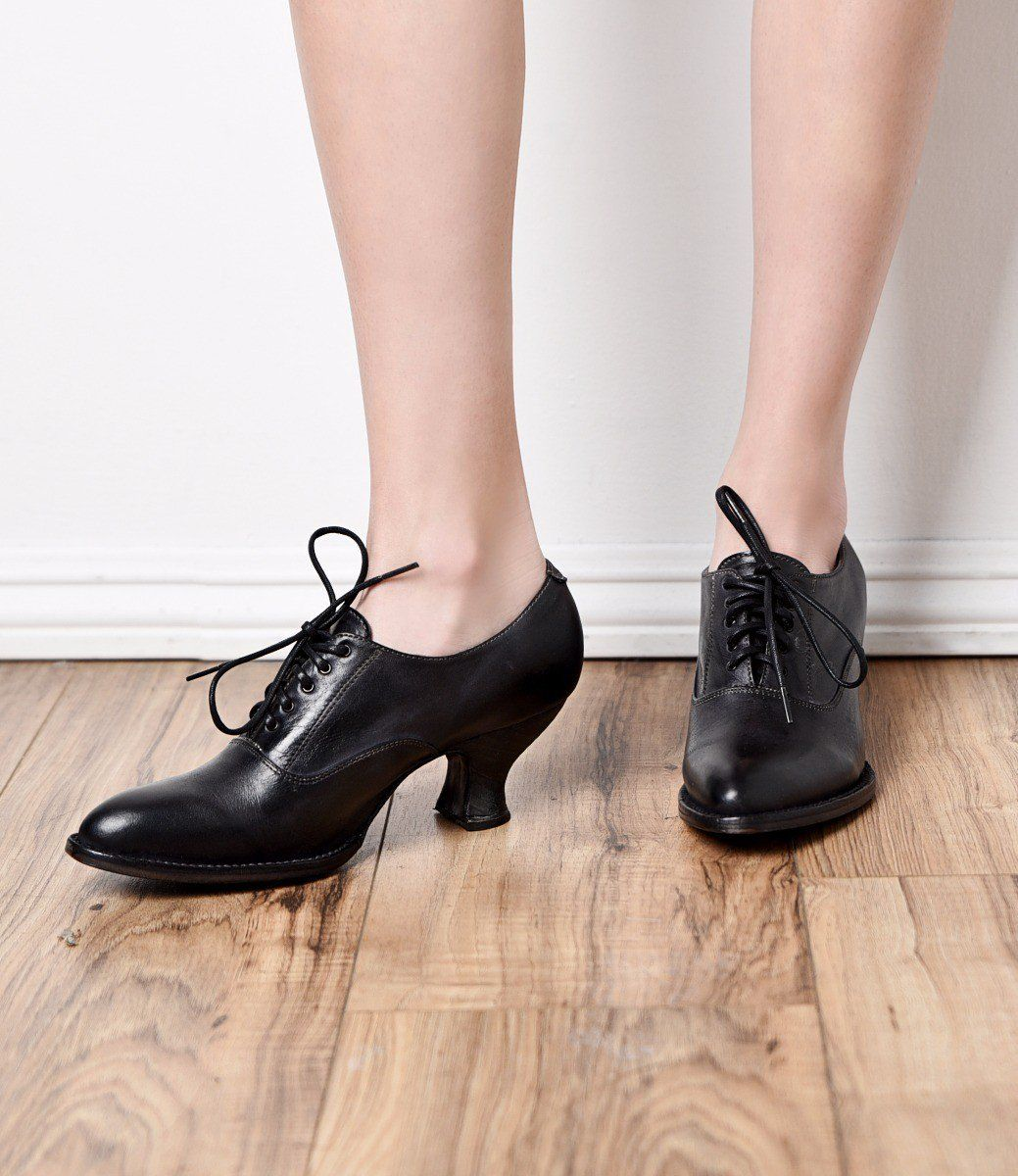 e86068f9bccc New Authentic Victorian Boots for Women Victorian Style Leather Lace-Up  Black Shoes  195.00 AT