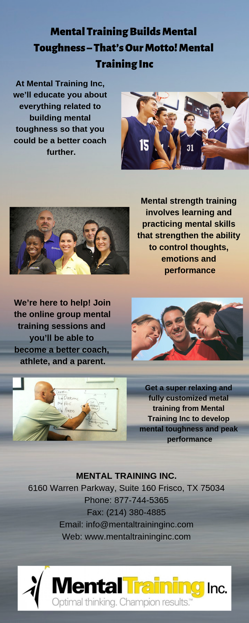 Mental Training Builds Mental ToughnessThat's Our Motto