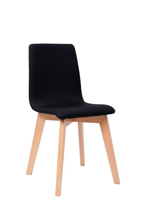 The Blaze Chair is fully upholstered with a 4 leg solid oak frame ...