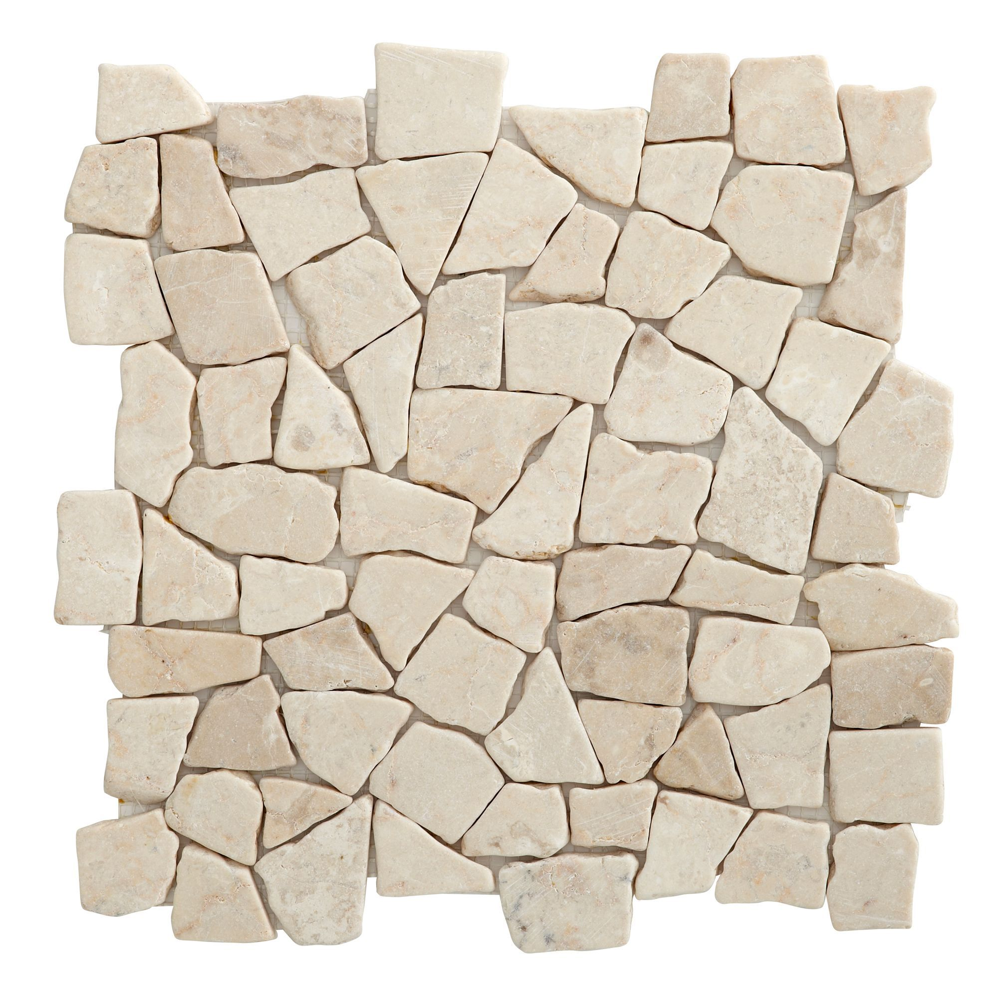 Marble White Mosaic Tile, (L)320mm (W)320mm | Departments | DIY at ...
