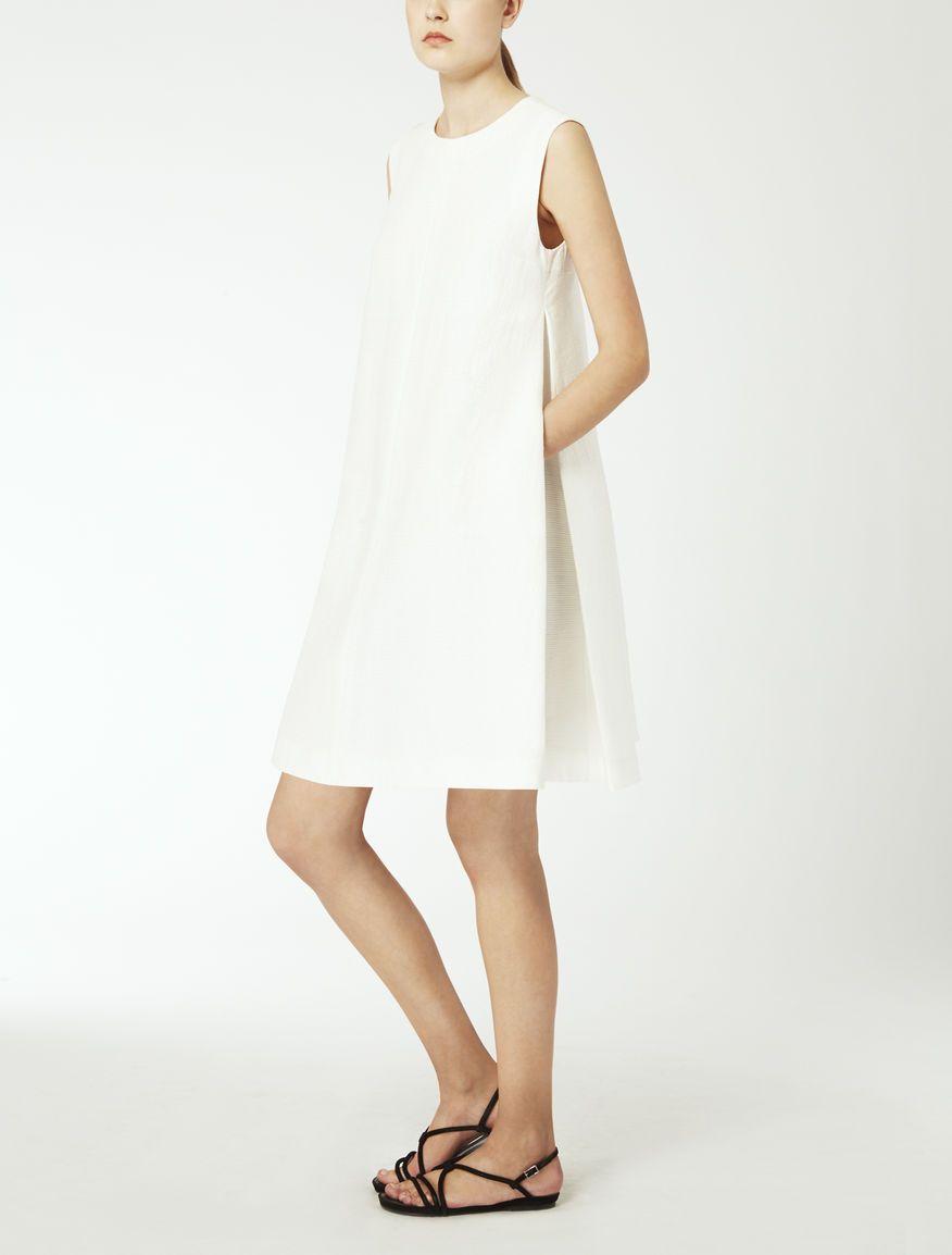Robe En Ottoman De Coton Blanc Brama Max Mara Dresses Casual Dresses Casual Dress