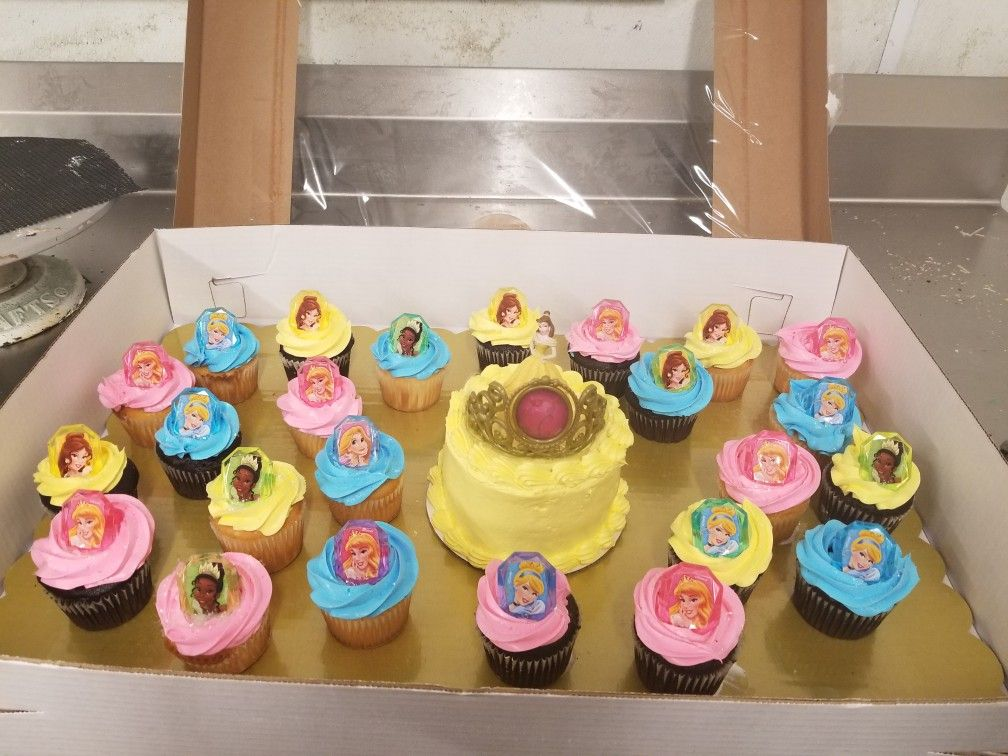 Marvelous Disney Princess Cupcakes With Images Disney Princess Cupcakes Funny Birthday Cards Online Barepcheapnameinfo