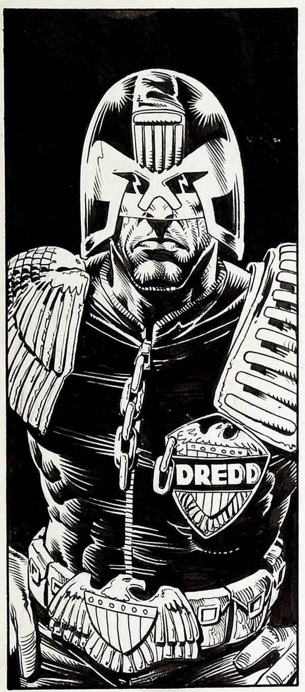JUDGE DEATH SIGNED BY FRAZER IRVING 2000 AD JUDGE DREDD COLLECTABLE CARD