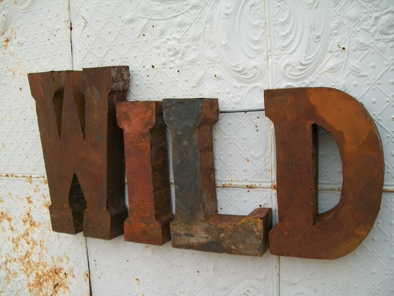 Rustic Metal Wall Art rustic 37 3d metal wild sign - trade sign-indoor or outdoor wall