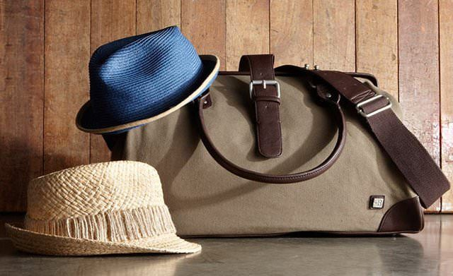 Leather & Canvas Weekender Bag by Block Headwear - lifestylerstore - http://www.lifestylerstore.com/leather-canvas-weekender-bag-by-block-headwear/