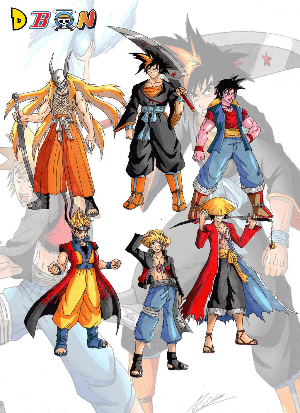 ichigoku naruffy+other fusions by on
