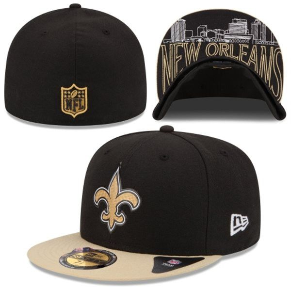 New Orleans Saints 59FIFTY New Era On-Stage 2015 Draft Day Fitted Flat Bill  Hat 1b1b356ad17