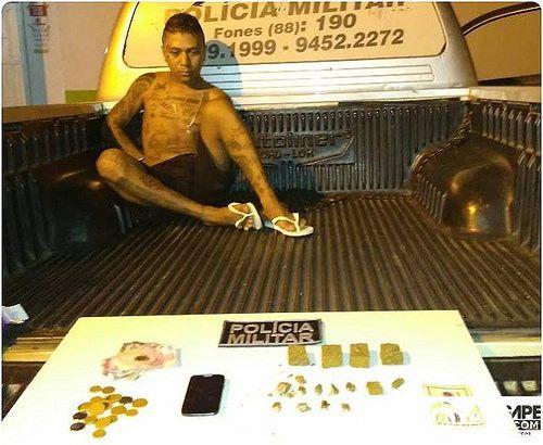 Em Forquilha-Ce PM prende um elemento acusado de tráfico de drogas: ift.tt/2odzpiU