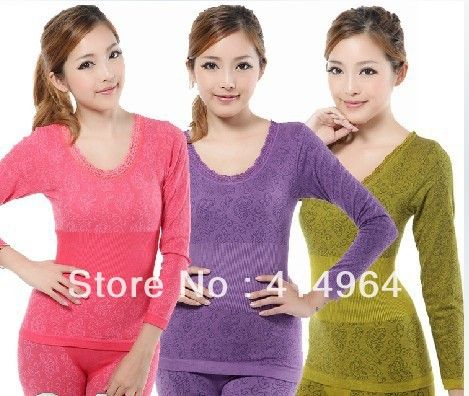 Aliexpress.com : Buy Long johns female cotton thermal underwear ...