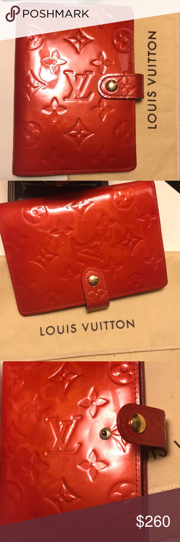 Authentic Lv Vernis Red Agenda Pm This Is Preloved Vernis Agenda Wallet It Is Still Good For Everyday Use A Louis Vuitton Bag Louis Vuitton Red Stuff To Buy