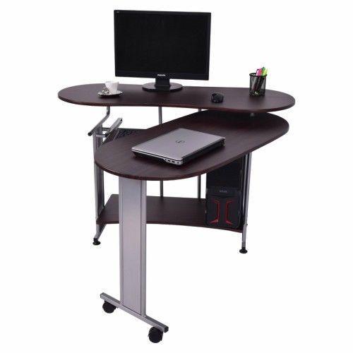 home office workstations. Corner Computer Desk Folding Home Office Workstation Study PCTable Black  Walnut #Goplus #Contemporary Home Office Workstations E