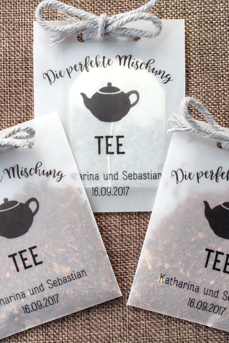 10 customizable bags for tea blends as a guest gift