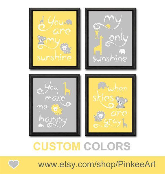 yellow grey you are my sunshine baby decor koala my sunshine nursery ...