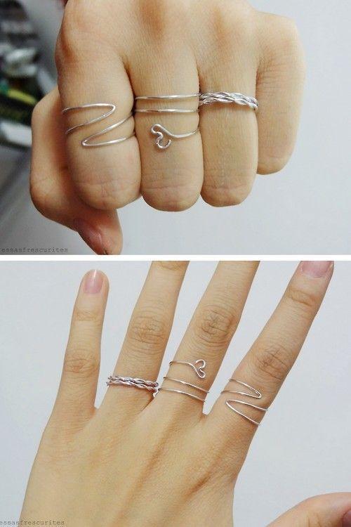 DIY 3 Wire Rings Tutorials Essas Frescurites | FollowPics