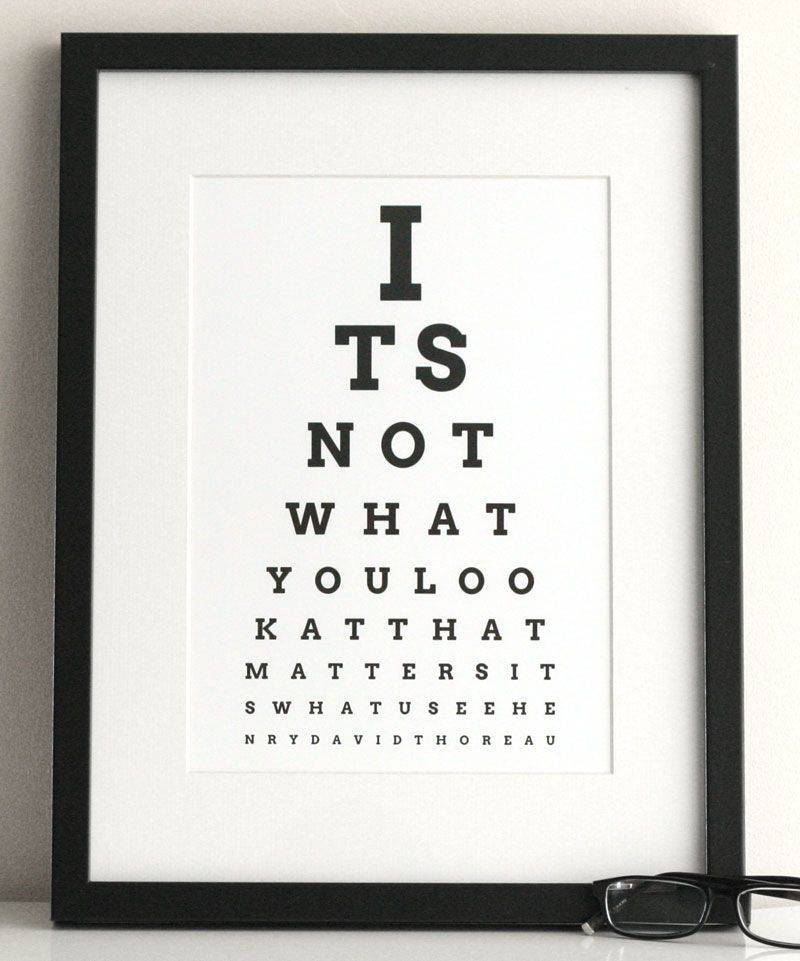 Eye Chart Maker Make Your Own Eyechart Art To Print At Home Tau Inspirational Quote