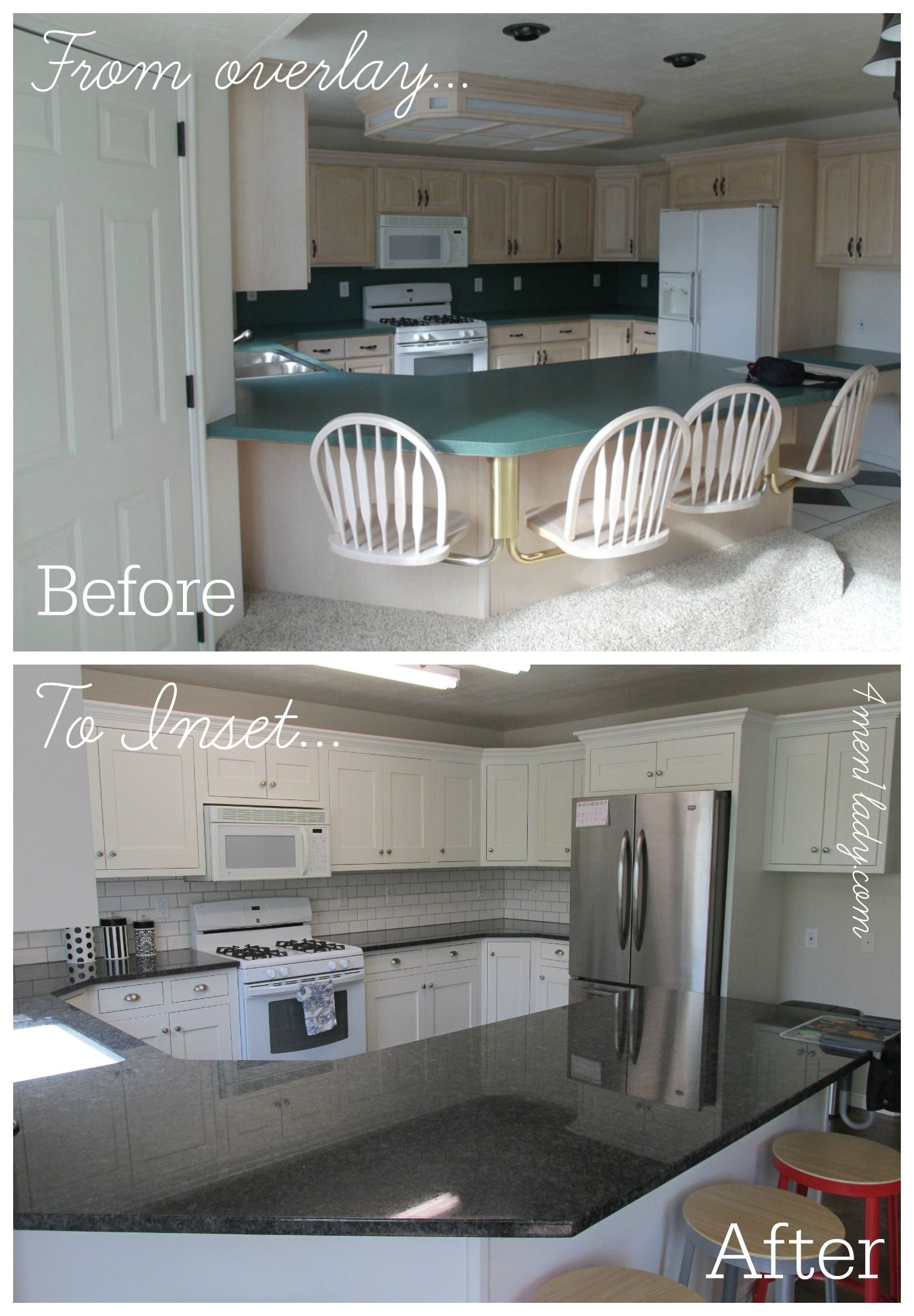 Kitchen makeover. From partial overlay to inset. | Kitchen ...