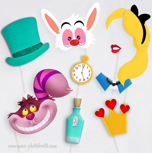 Kit Conte de fées Photobooth Accessoires | Alice, Wonderland party ...