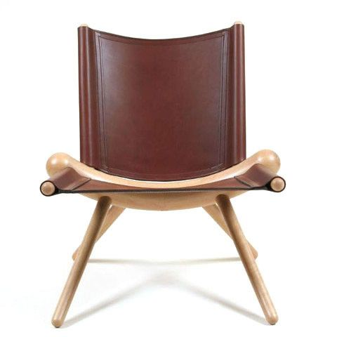 Polpo Casual Chair.  Minimalist frame with leather comfort that will make you smile.  Japan International Furniture Design Award (IFDA) finalist, 1996.  Available at Kozai Modern  $1,750
