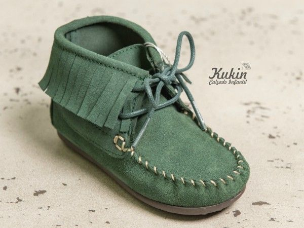 botas niño - calzado infantil - moda infantil - zapatería infantil online - botas  flecos verde botella - mohicanas 5e5e41604833