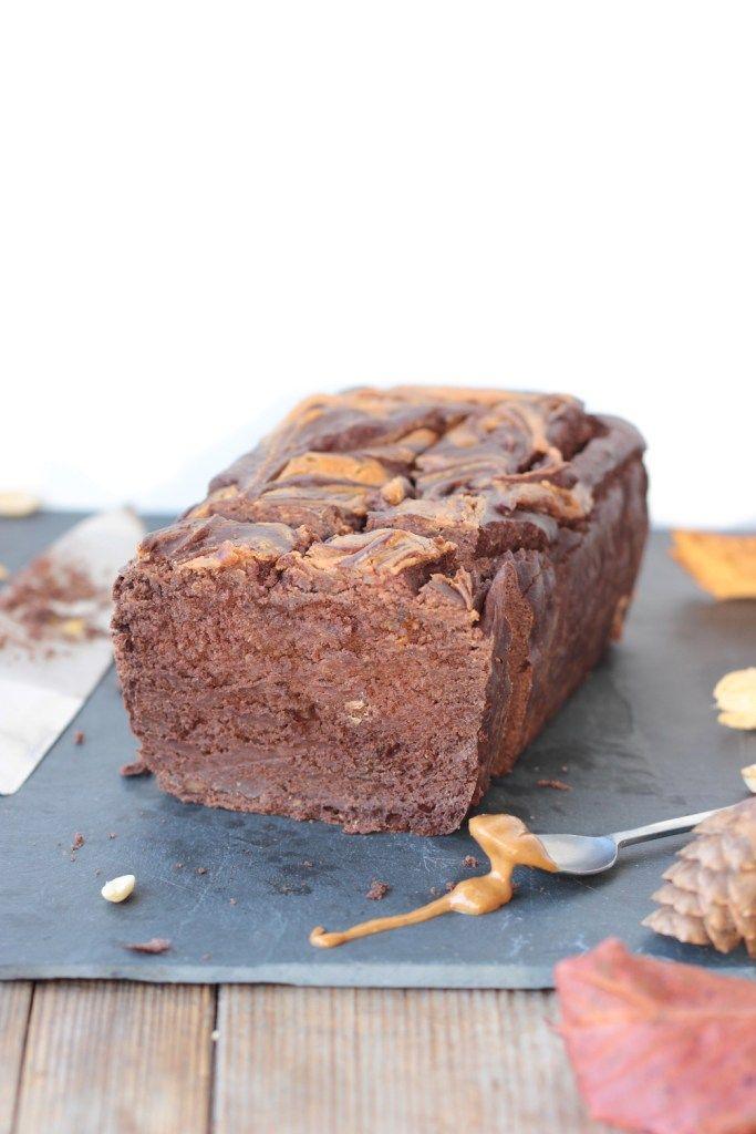 Cake chocolat & beurre de cacahuète (sans gluten ...