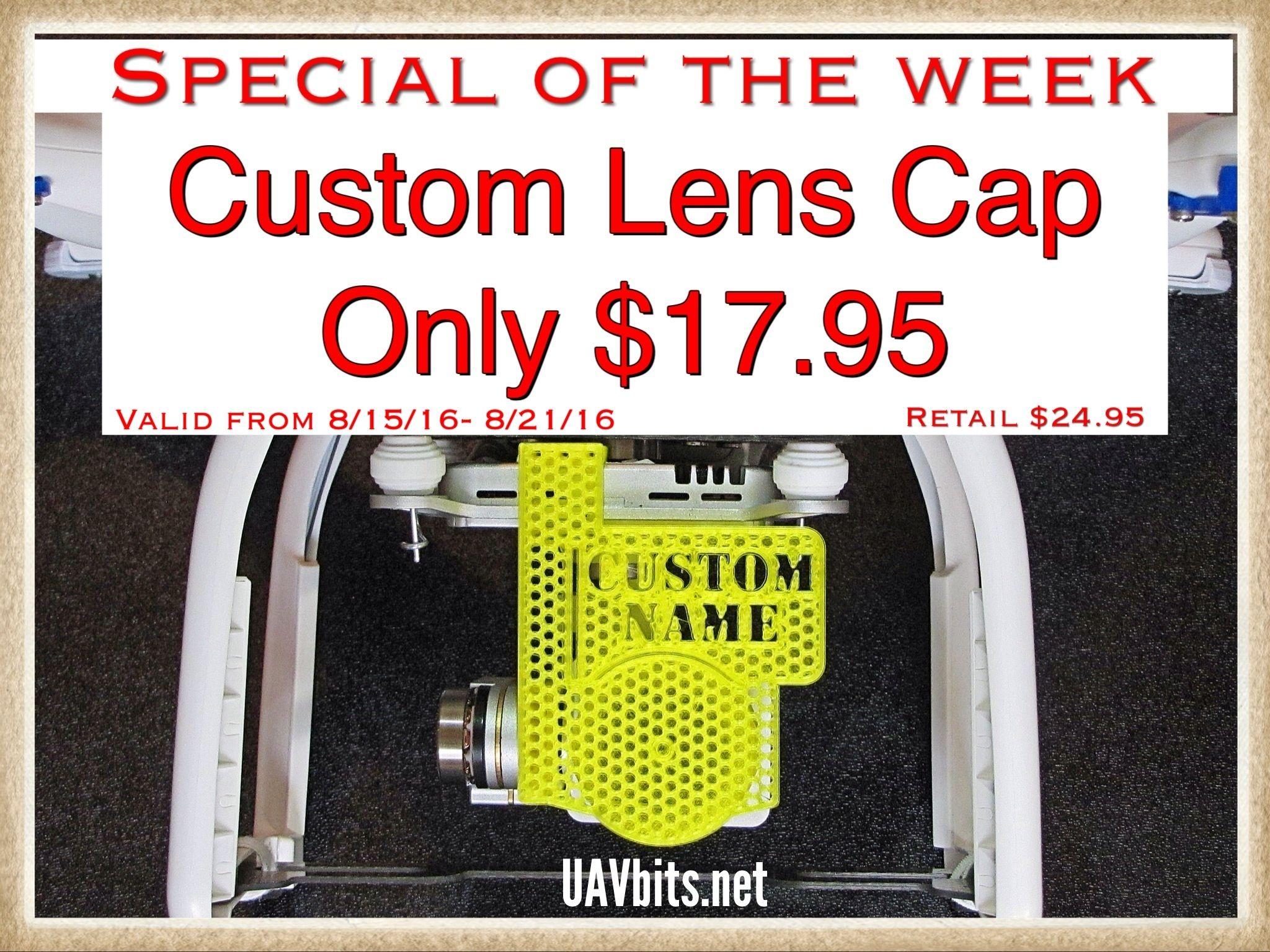 uavbits.net #custom #lenscap for your #P3 #DJI #djiphantom #uav Several colors to choose from