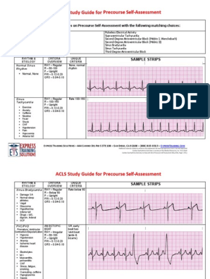 Acl Pre Course Self Assessment Study Guide Cardiovascular System Dissertation