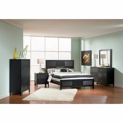 Grove California King Size Bedroom Furniture Set in Black Ideas