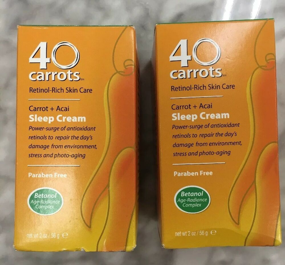 2x 40 Carrots Retinol Rich Skin Care Carrots Acai Sleep Cream 2 Oz Bonus Gift 605923801101 Ebay Skin Care Creme Skin Care Skin Cleanser Products