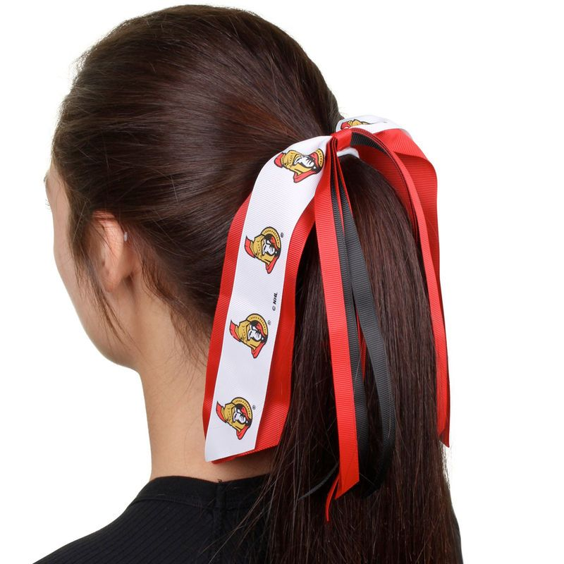 Ottawa Senators Jumbo Streamer Ponytail Holder
