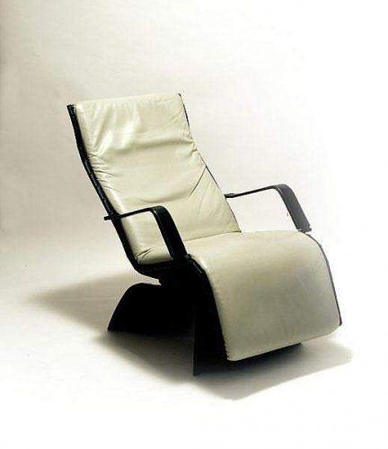 €. 1.800 Vendo Chaise longue Antropovarius in pelle nera ...